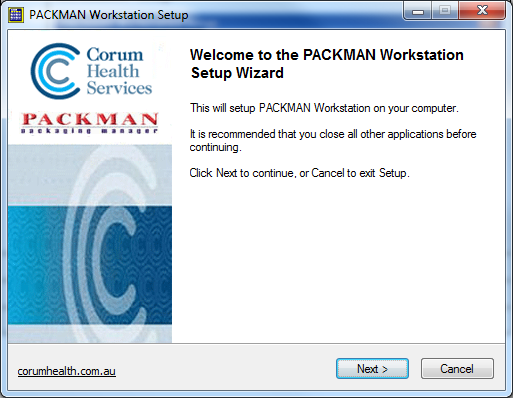 Packman Workstation Setup Step1