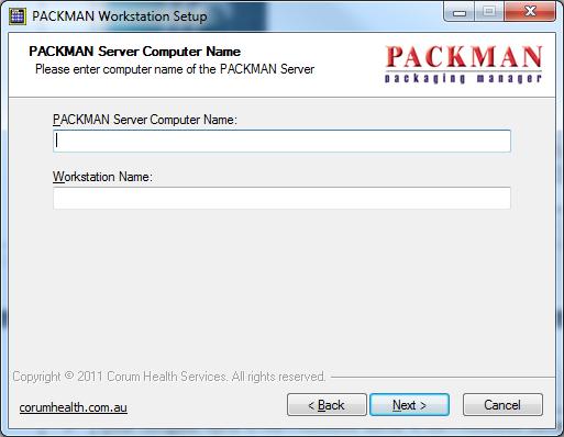 Packman Workstation Setup Step3